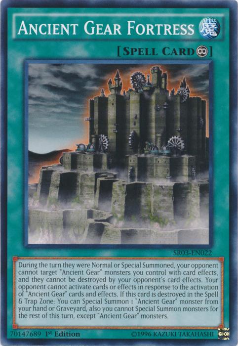Ancient Gear Fortress - SR03-EN022 - Common - 1st Edition