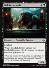 Baleful Ammit on Channel Fireball