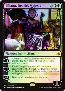 Liliana, Deaths Majesty - Foil - Prerelease Promo