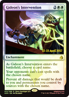 Gideons Intervention (Amonkhet Prerelease Foil)