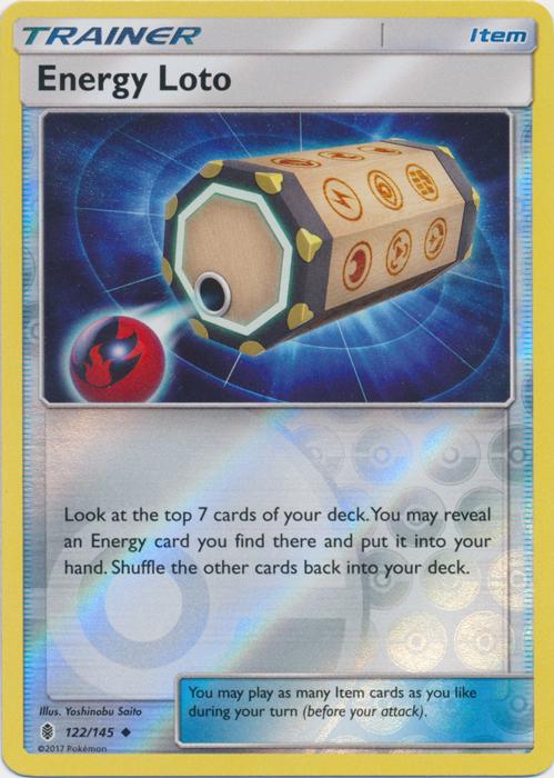Energy Loto - 122/145 - Uncommon - Reverse Holo