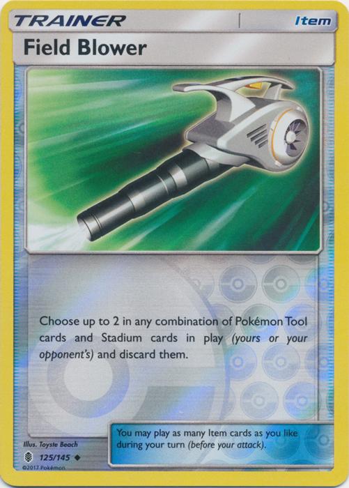 Field Blower - 125/145 - Uncommon - Reverse Holo