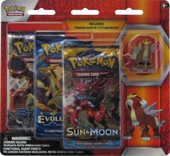 Sun and Moon - Legendary Beasts Entei 3 Pack Blister