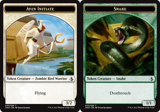 Aven Initiate Token // Snake Token