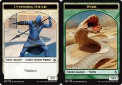 Unwavering Initiate Token // Wurm Token