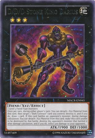 D/D/D Stone King Darius - MACR-EN045 - Rare - Unlimited Edition