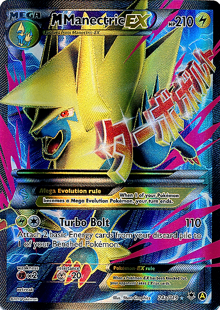 M Manectric EX - 24a/119 - Full Art Promo - Mega Powers Collection Exclusive