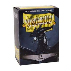 Dragon Shield Sleeves: Matte Jet (100 Standard Size)