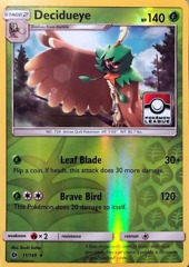 Decidueye - 11/149 - Reverse Holo - League Stamp Promo - 2017 Pokemon League Exclusive on Channel Fireball
