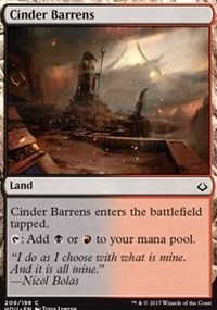 Cinder Barrens (Hour of Devastation) - Planeswalker Deck Exclusive