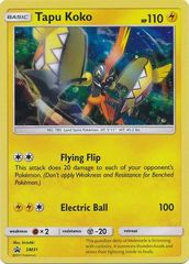 Tapu Koko - SM31 - Cosmos Holo Promo - Tapu Koko Pin Collection Exclusive - SM Black Star Promo