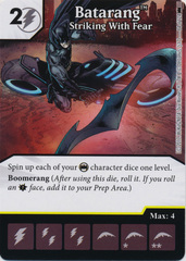 Batarang - Striking With Fear (Die and Card Combo) - Foil