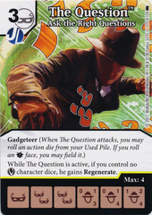 The Question - Ask the Right Questions (Die and Card Combo) - Foil