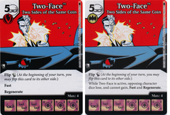 Two-Face - Two Sides of the Same Coin (Die and Card Combo) - Foil