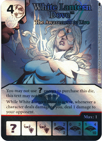 White Lantern Dove - The Awareness to Live (Die and Card Combo) - Foil