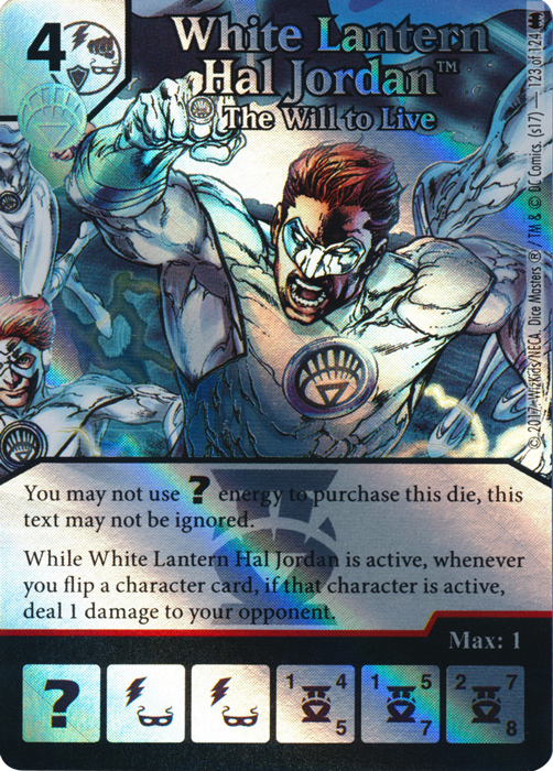White Lantern Superman - The Strenght to Live (Die and Card Combo) - Foil