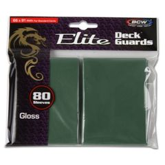 Bcw Deck Guard: Deck Protector Sleeve - Elite Glossy Green (80Ct)