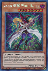 Vision HERO Witch Raider - BLLR-EN026 - Secret Rare - 1st Edition