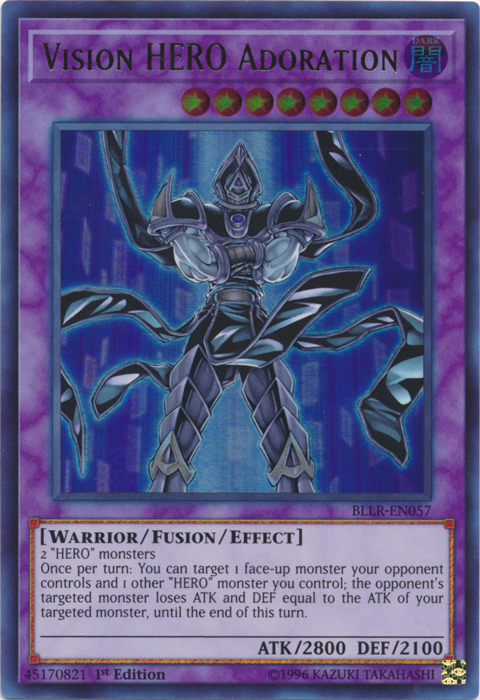 Vision HERO Adoration - BLLR-EN057 - Ultra Rare - 1st Edition