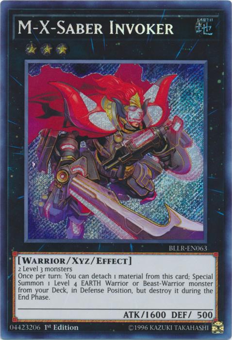 M-X-Saber Invoker - BLLR-EN063 - Secret Rare - 1st Edition