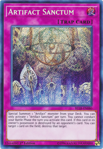 Artifact Sanctum - BLLR-EN080 - Secret Rare - 1st Edition