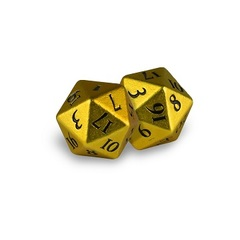 Ultra Pro - Dice Heavy Metal D20 2-Dice Yellow