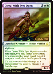 Djeru, With Eyes Open - Foil - Prerelease Promo