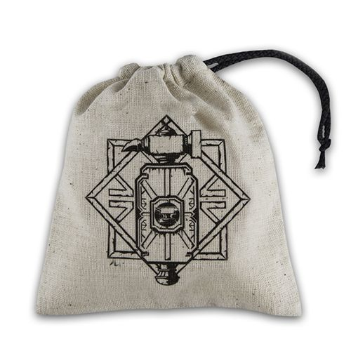 Q-Workshop - Basic Dice Bag - Dwarven Beige And Black