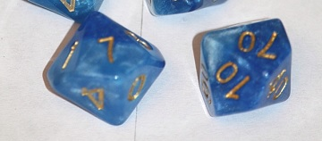 Gate Keeper Games - Halfsies Dice - Sky Current 7-Dice Set