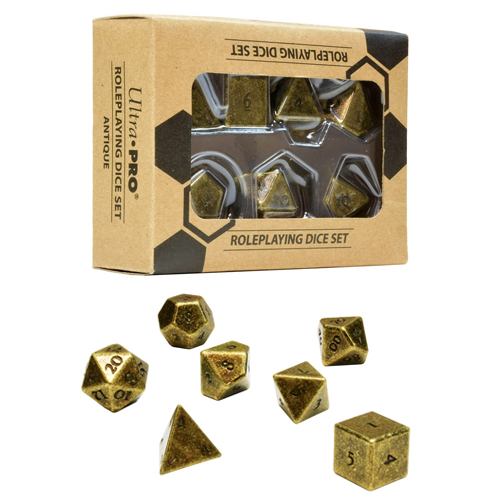 Ultra Pro - Heavy Metal Dice: Polyhedral 7-Count Rpg Set Dice