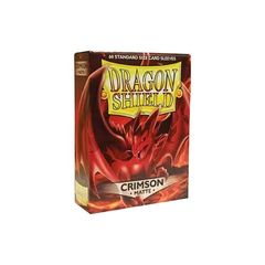 Dragon Shield Sleeves: Matte Crimson (60 Standard Size)