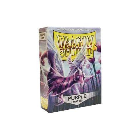 Dragon Shield Sleeves: Matte Purple (Box Of 60)