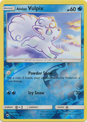 Alolan Vulpix - 27/147 - Common - Reverse Holo on Channel Fireball