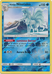 Alolan Ninetales - 28/147 - Rare - Reverse Holo on Channel Fireball