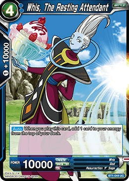 Whis, The Resting Attendant - BT1-044 - UC