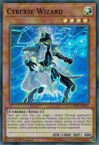 Cyberse Wizard - COTD-EN001 - Super Rare - 1st Edition