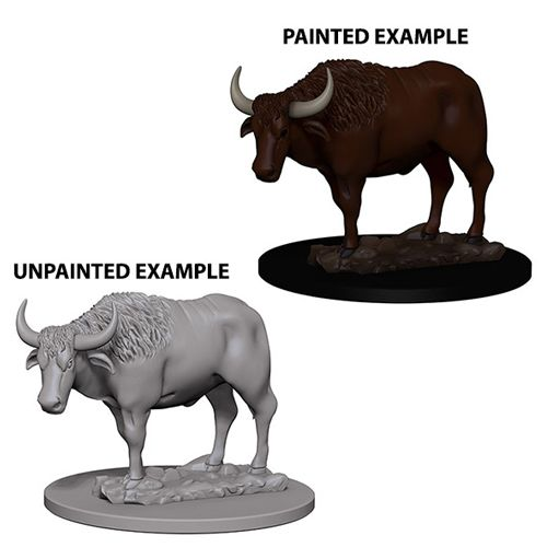 Pathfinder Battles Unpainted Minis - Oxen