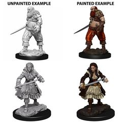 WizKids Deep Cuts Unpainted Miniatures: W4 Pirates