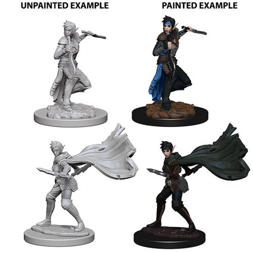 Pathfinder Battles Unpainted Minis - Elf Female Rogue