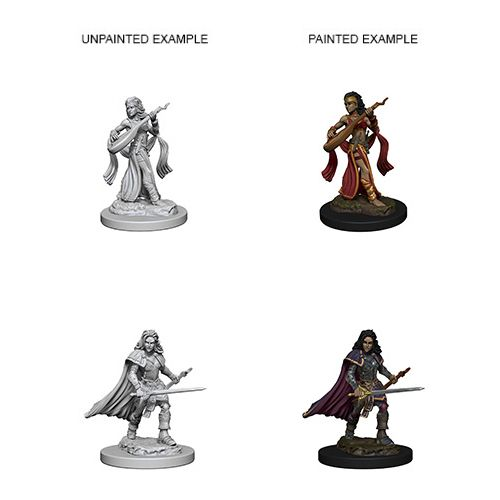 Pathfinder Battles Unpainted Minis - Human Female Bard