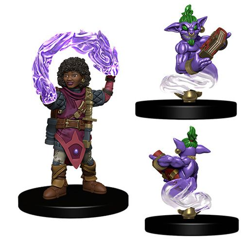 Wizkids Pre-Painted Miniatures: Girl Wizard And Genie