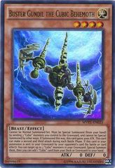 Buster Gundil the Cubic Behemoth - MVP1-ENG35 - Gold Rare - Unlimited Edition
