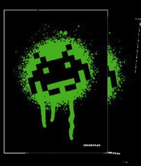 Turn One - Glossy Sleeves - Space Invaders Graffiti 50Ct