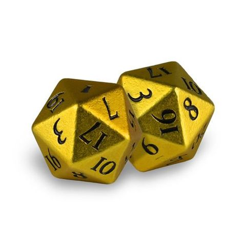 Ultra Pro - Heavy Metal Dice D20: Set Of 2 - Bumblebee With Black Numbers