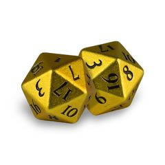 Ultra Pro Heavy Metal: D20 Bumblebee (2 dice) Yellow