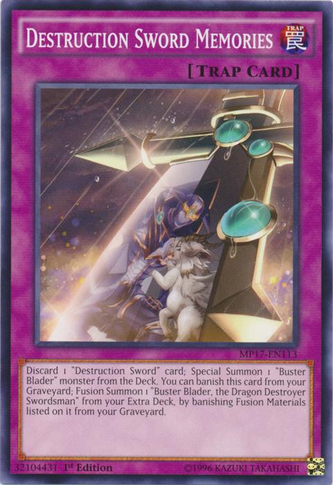Destruction Sword Memories - MP17-EN113 - Common - 1st Edition