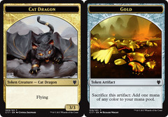 Cat Dragon // Gold Token (Commander 2017)