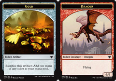 Gold // Dragon (6/6) Token