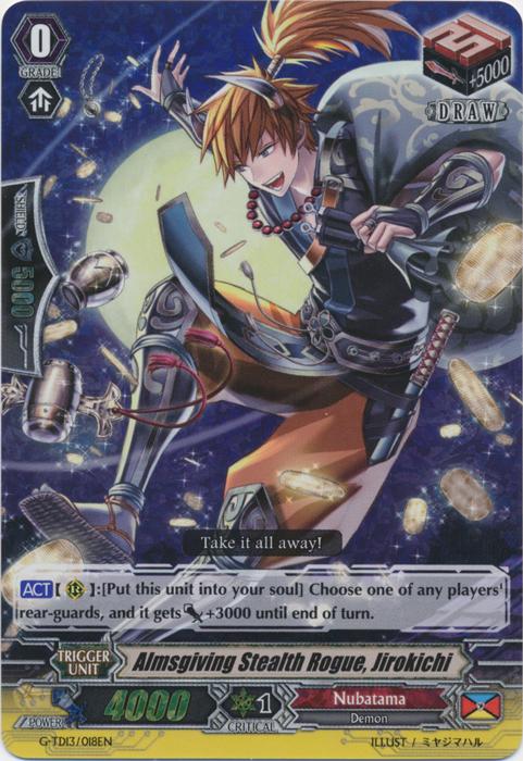 Almsgiving Stealth Rogue, Jirokichi - G-TD13/018EN - RR