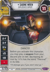 Sabine Wren - Explosives Expert (Sold with Matching Die)